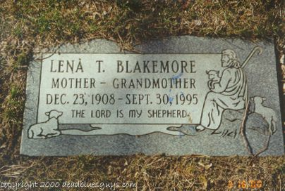 Lena Blakemore Headstone - Jody Page - March 2000